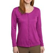 ® Ladies Silk Touch™ Interlock Cardigan