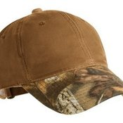 Pro Camouflage Series Cotton Waxed Cap with Camouflage Brim