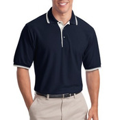 Silk Touch™ Polo with Stripe Trim