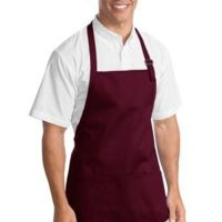 Medium Length Apron with Pouch Pockets Thumbnail